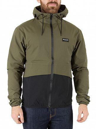 Nicce London Khaki/Black Haven Shell Jacket