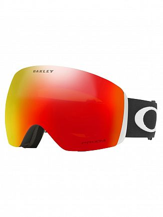 Oakley Matte Black/Torch Flight Deck Prizm Goggles