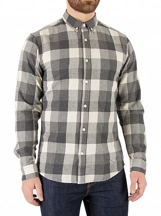Only & Sons Dark Grey Melange Aswin Checked Shirt