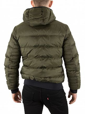Scotch & Soda Army Quilted Down Bomber Jacket