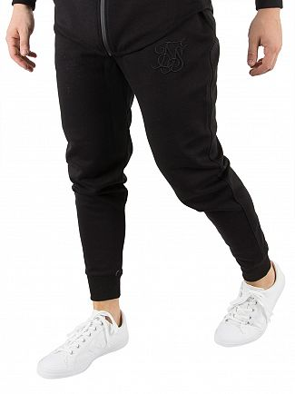 Sik Silk Black Interlock Poly Tricot Jogger