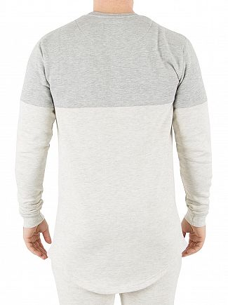 Sik Silk Grey/Snow Marl Sweatshirt