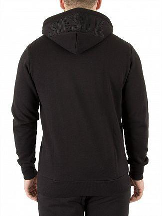 Sik Silk Black Zip Hoodie