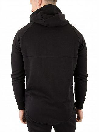 Sik Silk Black Zip Interlock Hoodie