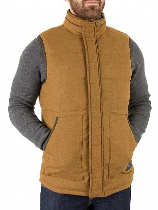 Scotch & Soda Rust Quilted Wool Body Warmer