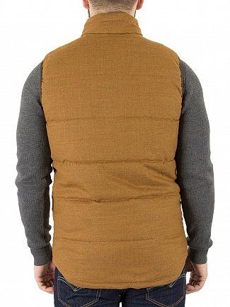 Scotch & Soda Rust Quilted Wool Body Warmer