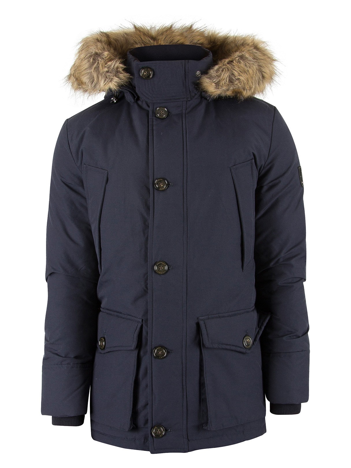 tommy hilfiger herren hampton daunenjacke parka blau ebay. Black Bedroom Furniture Sets. Home Design Ideas