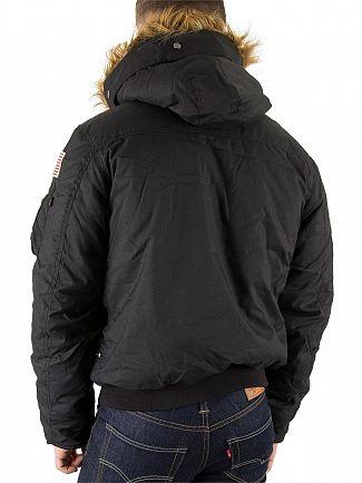 Alpha Industries Black Fur Hooded Polar Jacket