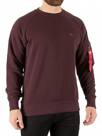 Alpha Industries Deep Maroon X-Fit Sweatshirt