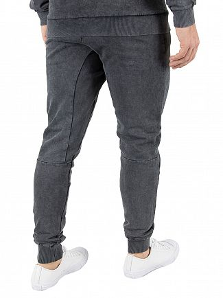 Hype Grey Acid Wash Crest Joggers