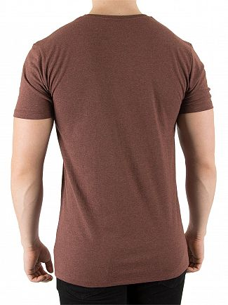 Hype Russet/White Basic Logo T-Shirt