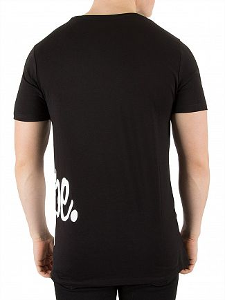 Hype Black Side Script T-Shirt