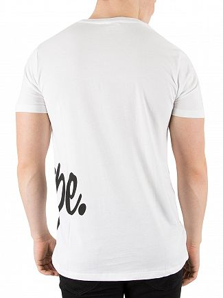 Hype White Side Script T-Shirt