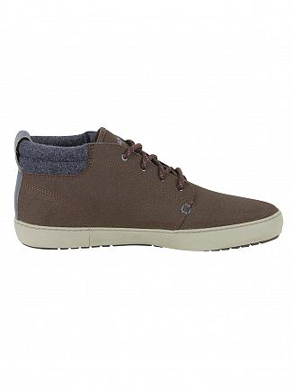 Lacoste Dark Brown Ampthill Terra 417 1 CAM Leather Trainers