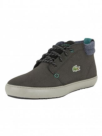 Lacoste Black Ampthill Terra 417 1 CAM Leather Trainers
