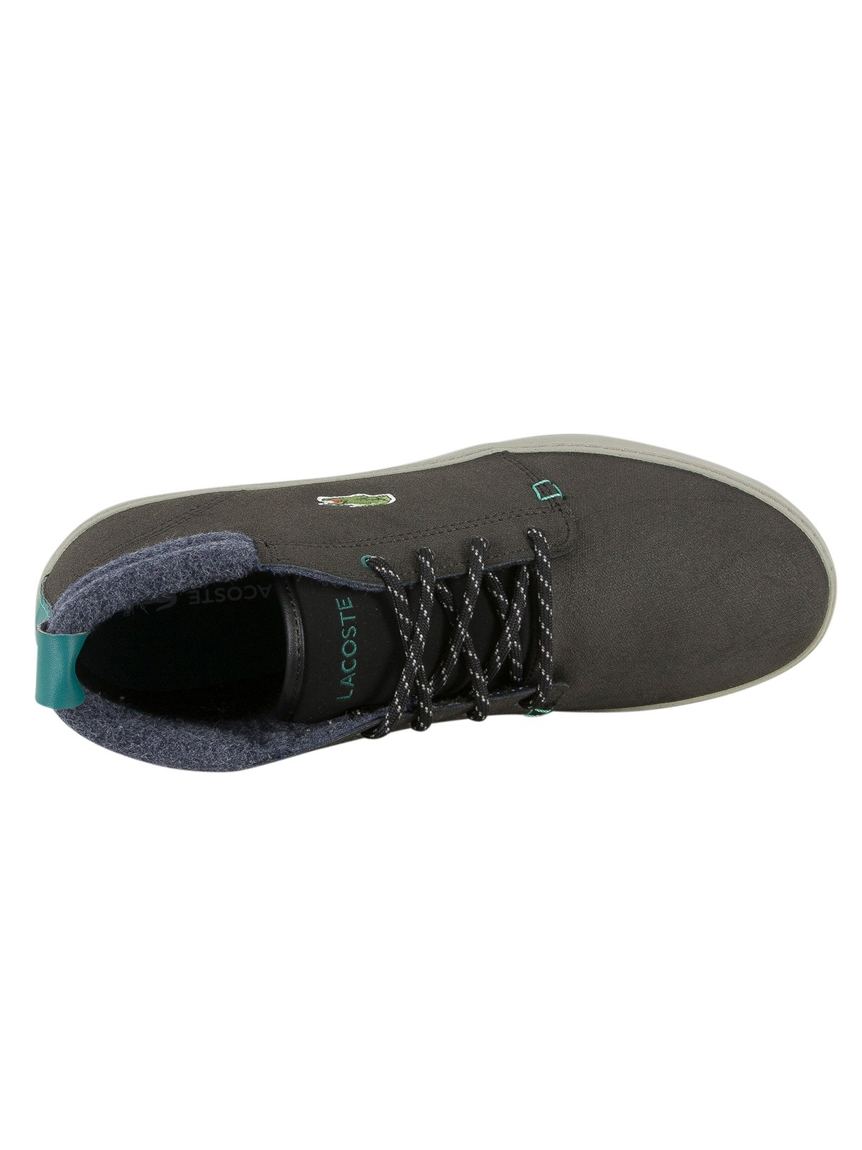 02115f4f45621 Lacoste Black Ampthill Terra 417 1 CAM Leather Trainers