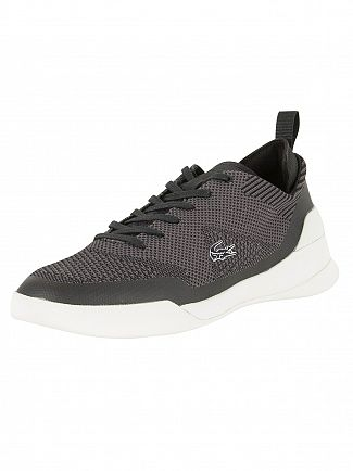 Lacoste Black/Dark Grey LT Dual Elite 317 1 SPM Trainers