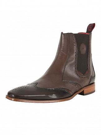 Jeffery West College Dark Brown/Tucuman Dark Brown Scarface Mix Leather Shoes