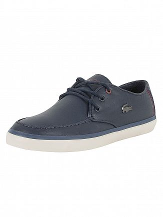 Lacoste Navy Sevrin 417 1 CAM Leather Trainers