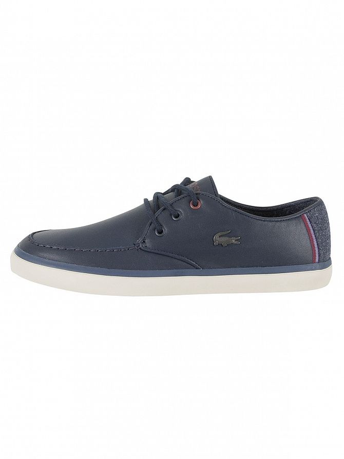 Lacoste Homme Sevrin 417 1 Cam Leather Trainers, Bleu
