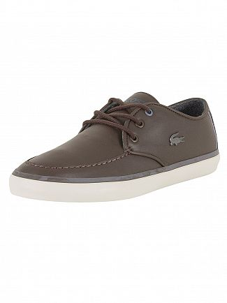 Lacoste Dark Brown Sevrin 417 1 CAM Leather Trainers