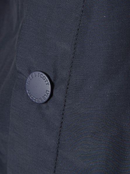 Lyle & Scott Navy Zip Through Hooded Logo Jacket