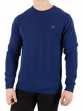 Gant Yale Blue Super Fine Lambswool Knit