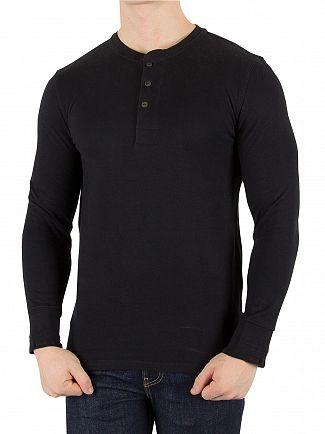 Levi's Black Beauty Longsleeved Bryant Henley T-Shirt