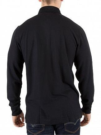 Tommy Hilfiger Flag Black Performance Longsleeved Polo Shirt