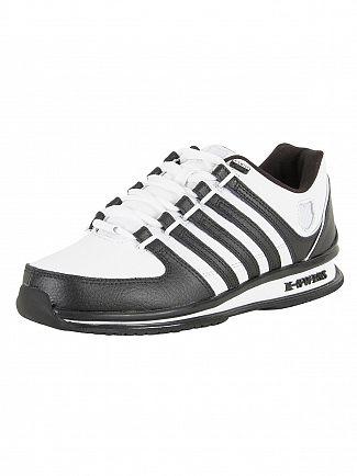 K-Swiss White/White/Black Rinzler SP Trainers