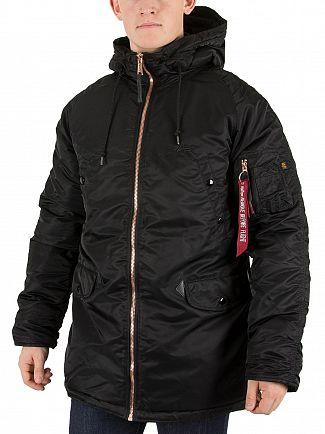 Alpha Industries Black N3-B PM Hooded Jacket