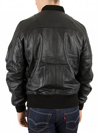 Alpha Industries Black/Copper MA-1 VF PM Leather Jacket