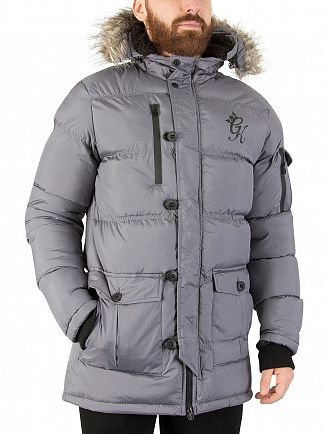 Gym King Steel Fur Parka Jacket