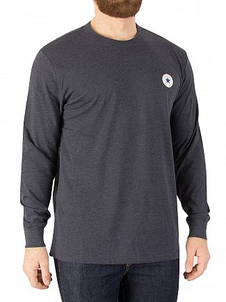 Converse Dark Obsidian Heather Longsleeved Badge T-Shirt