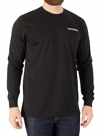 Converse Black Longsleeved Sneaker T-Shirt