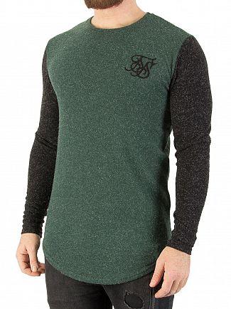Sik Silk Khaki/Black Contrast Longsleeved T-Shirt