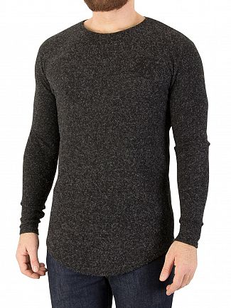 Sik Silk Black Long Sleeved Knitted T-Shirt