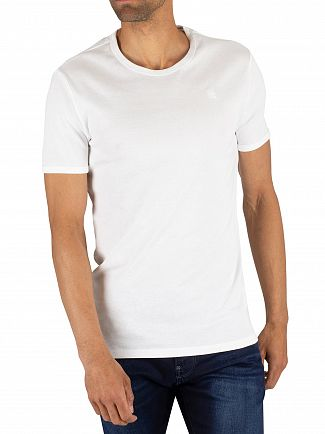 G-Star White 2 Pack Slim Crew T-Shirts