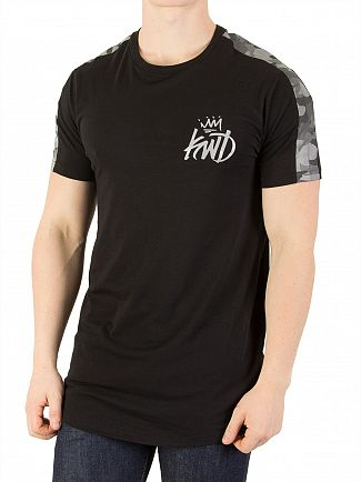 Kings Will Dream Black/Ref Bamford Tipped Shoulders T-Shirt