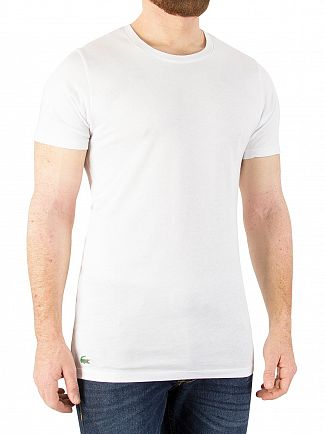 Lacoste White 3 Pack Slim Fit T-Shirts