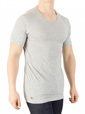 Lacoste Grey Melange 3 Pack Slim Fit T-Shirts