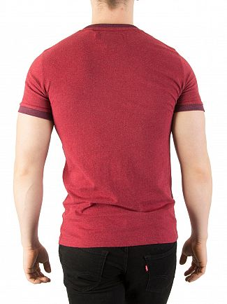 Superdry Rust Red Cali Ringer T-Shirt