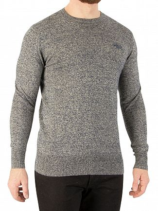 Superdry Surface Blue Grit Orange Label Crew Knit