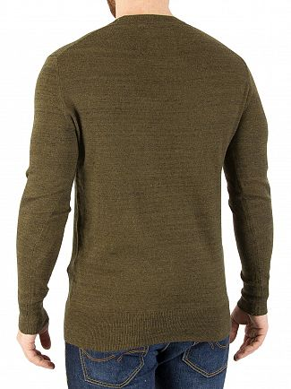 Superdry Kale Grindle Orange Label Crew Knit
