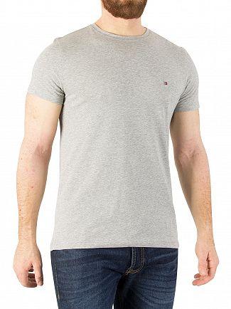 Tommy Hilfiger Cloud Heather Slim Fit Logo T-Shirt