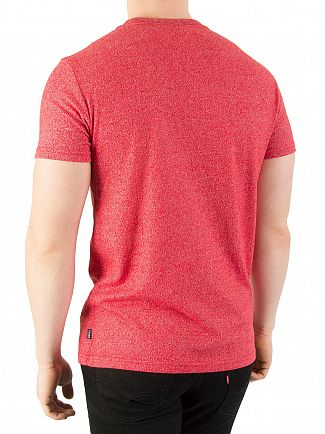 Superdry Grit Tag Red Premium Goods T-Shirt