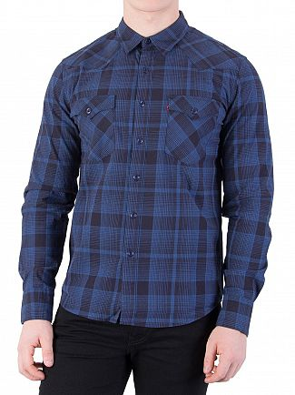 Levi's Nighthawk Dress Blue Barstow Western Shirt