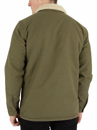 Levi's Olive Night Military Sherpa Jacket