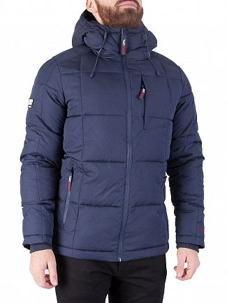Superdry Navy Marl Evolution Padded Jacket