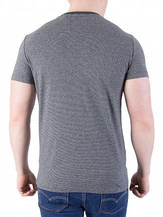 Superdry Jet Charcoal Vintage EMB Feeder T-Shirt